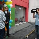 Filmagem na frente da loja