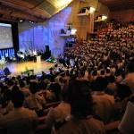 Um dos encontros no Centro de Convenções