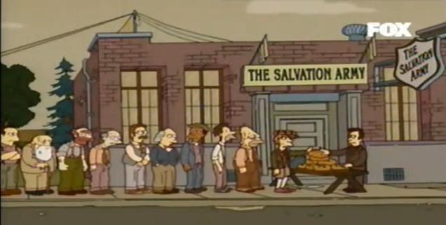 Cena do episódio em Os Simpsons