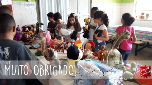 Exército de Salvação finaliza a Campanha de Dia das crianças e agradece aos colaboradores